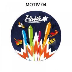 Funke Feuerwerk Aufkleber 4