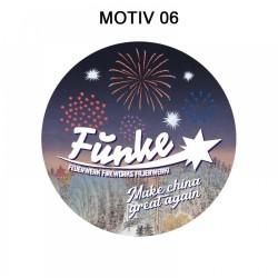 Funke Feuerwerk Aufkleber 5